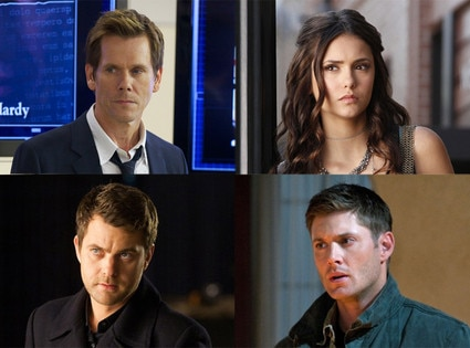 Kevin Bacon, The Following, Nina Dobrev, The Vampire Diaries, Joshua Jackson, Fringe, Jensen Ackles, Supernatural