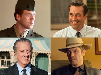 Best Actor Drama, Jon Hamm, Mad Men, Damian Lewis, Homeland, Timothy Olyphant, Justified, Dustin Hoffman, Luck