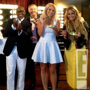 LA Reid, Britney Spears, Demi Lovato, EXCLUSIVE PHOTO