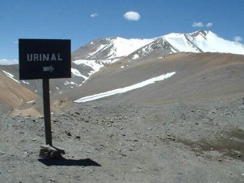 Far Away Urinal Sign Soup X2