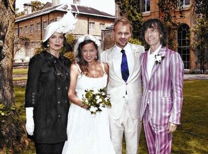 Bianca Jagger, Jade Jagger, Mick Jagger, Adrian Fillary