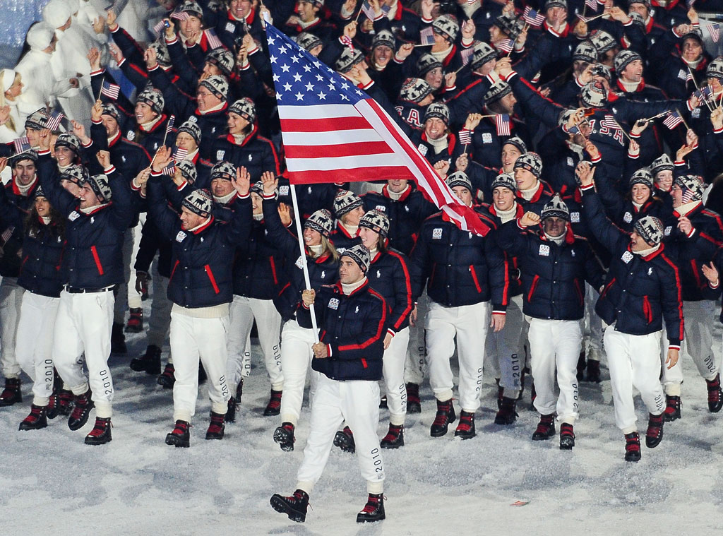 Mark Grimmette, USA at Vancouver 2010 Opening Ceremony