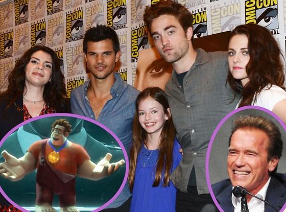 Arnold Schwarzenegger, Robert Pattinson, Kristen Stewart, Wreck it Ralph