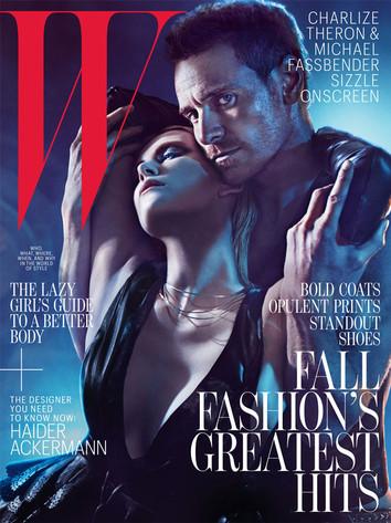 Charlize Theron, Michael Fassbender, W Magazine
