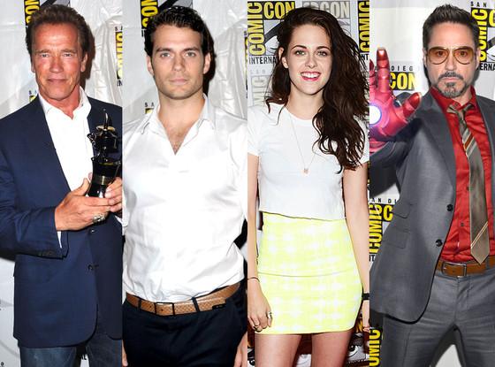 Arnold Schwarzenegger, Henry Cavill, Kristen Stewart, Robert Downey Jr.