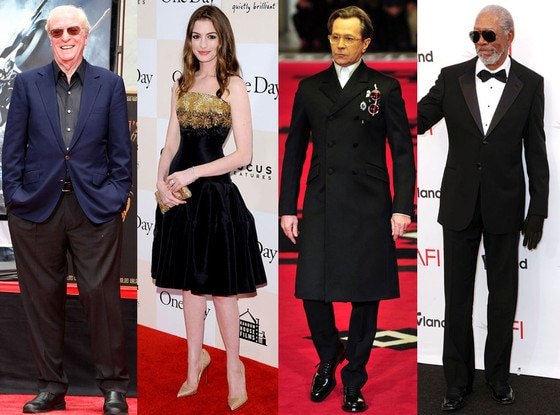 Michael Caine, Anne Hathaway, Gary Oldham, Morgan Freeman
