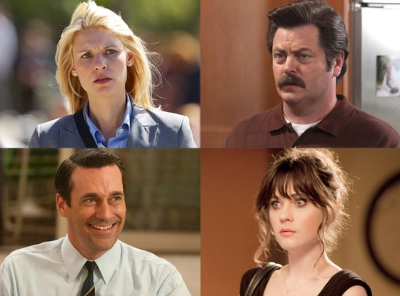 Nick Offerman, Parks and Recreation, Claire Danes, Homeland, Zooey Deschanel, New Girl, Jon Hamm, Mad Men