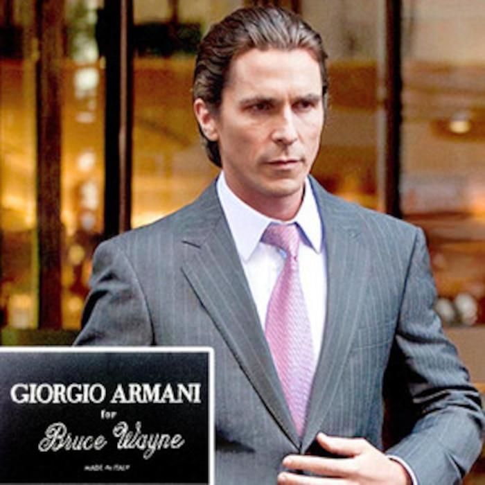 Christian Bale, Bruce Wayne, Giorgio Armani