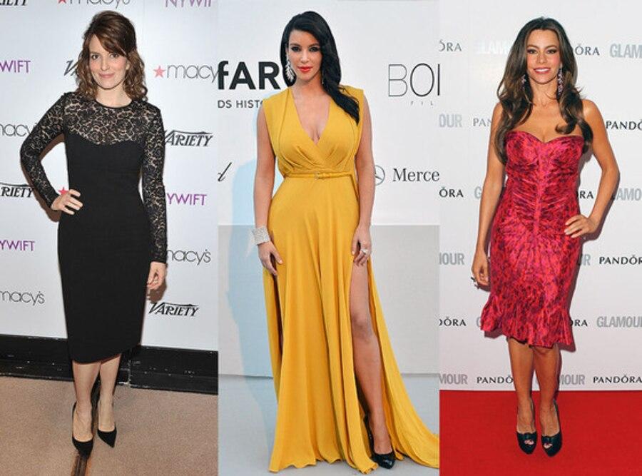 Tina Fey, Kim Kardashian, Sofia Vergara