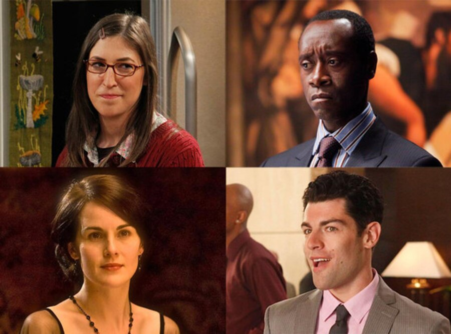 Max Greenfield, New Girl, Michelle Dockery, Downton Abbey, Don Cheadle, House of Lies, Mayim Bialik, Big Bang Theory