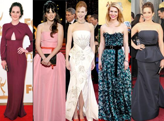 Michelle Dockery, Zooey Deschanel, Nicole Kidman, Claire Danes, Tina Fey