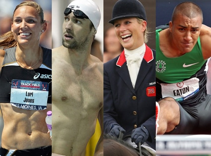 Michael Phelps, Ashton Eaton, Zara Phillips, Lolo Jones, Olympians to Watch