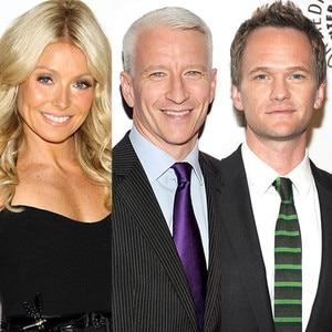 Kelly Ripa, Anderson Cooper, Neil Patrick Harris