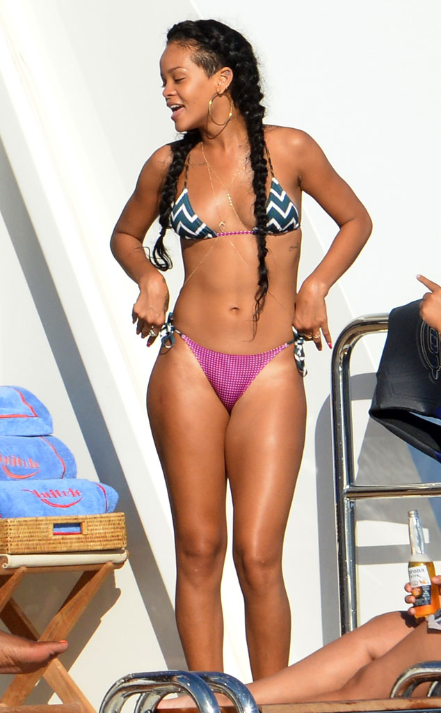 Rihanna, Bikini, Favorite Celebrity Vacation Spots