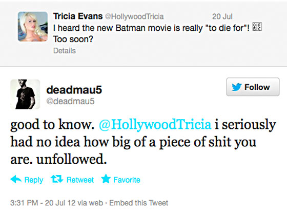Trica Evan, Deadmau5 Twitter War