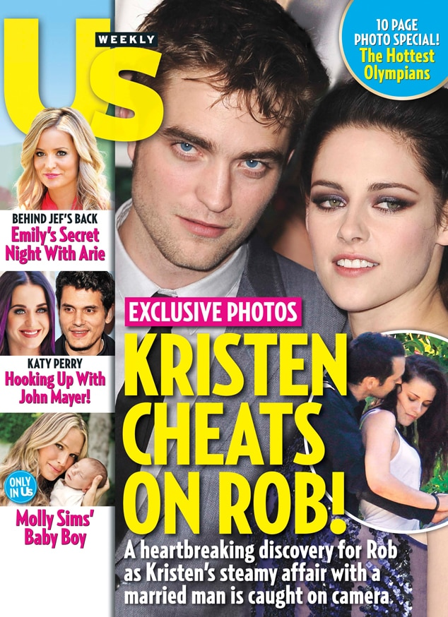 Robert Pattinson, Kristen Stewart, Us Weekly cover
