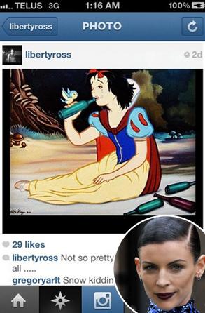 Liberty Ross, Instagram