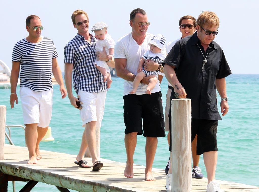 Elton John, David Furnish, Neil Patrick Harris