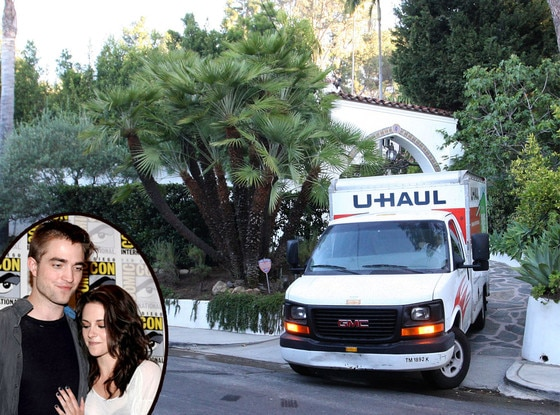 Robert Pattinson, Kristen Stewart, Moving Truck