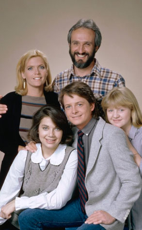 Family Ties Cast, Michael J. Fox, Justine Bateman, Meredith Baxter, Tina Yothers and Michael Gross, Family Ties