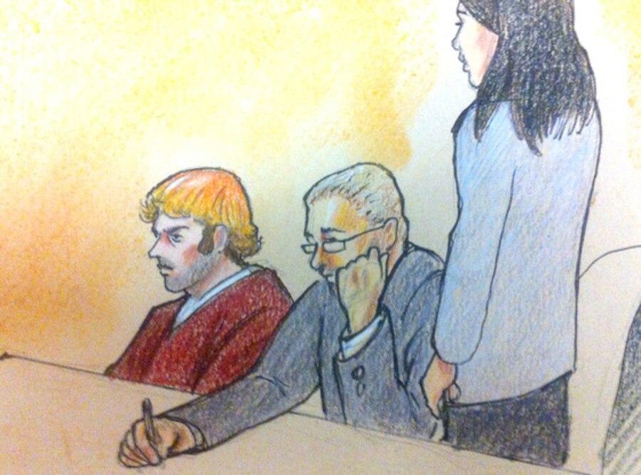 James Holmes, Courtroom Sketch