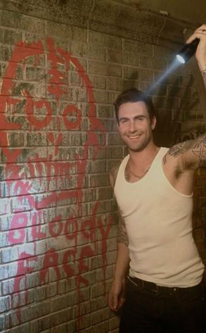 Adam Levine, American Horror Story, Twit Pic