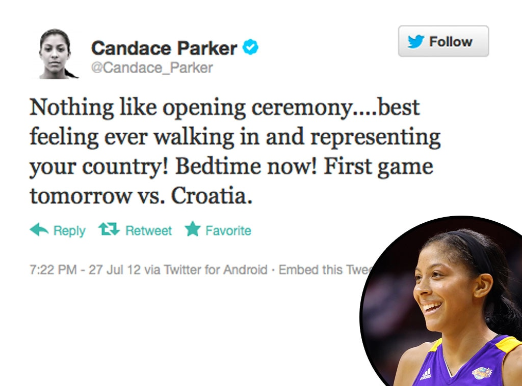 Olympic Tweets, Candace Parker