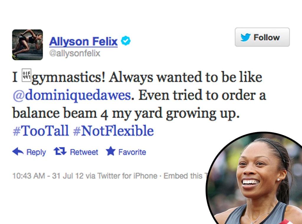 Olympic Tweets, Allyson Felix