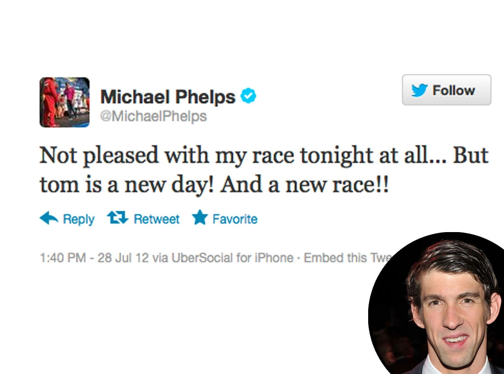 Olympic Tweets, Michael Phelps