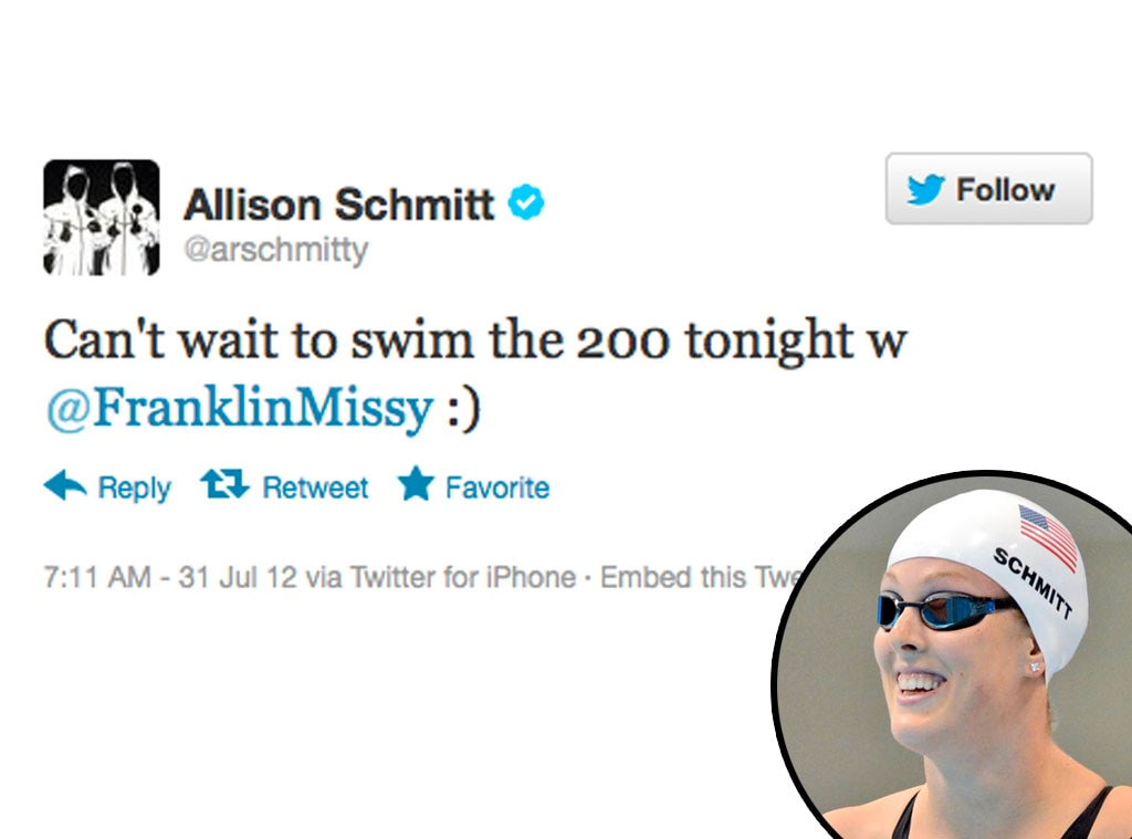 Olympic Tweets, Allison Schmitt