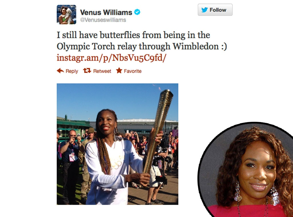 Olympic Tweets, Venus Williams