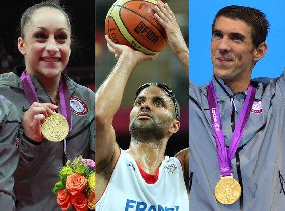 Michael Phelps, Tony Parker, Jordan Wieber
