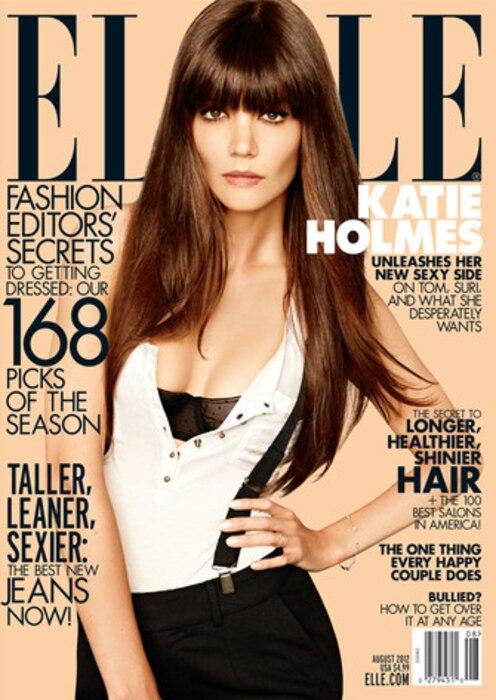 Katie Holmes, July Elle Magazine