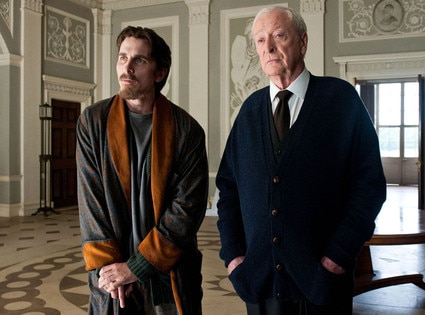 Christian Bale, Michael Caine, The Dark Knight Rises