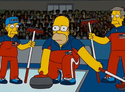 Olympics in Pop Culture, Simpsons Curling