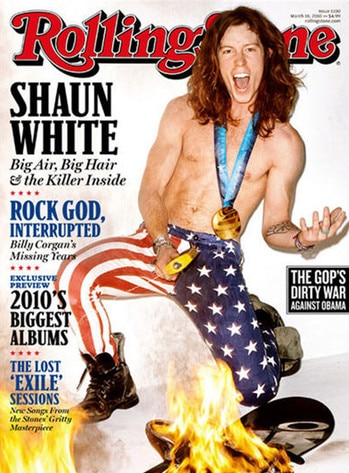 Olympics in Pop Culture, Shaun White, Rolling Stone Cover
