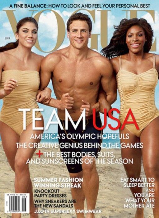Olympics in Pop Culture, Hope Solo, Ryan Lochte, Serena Williams, Vogue