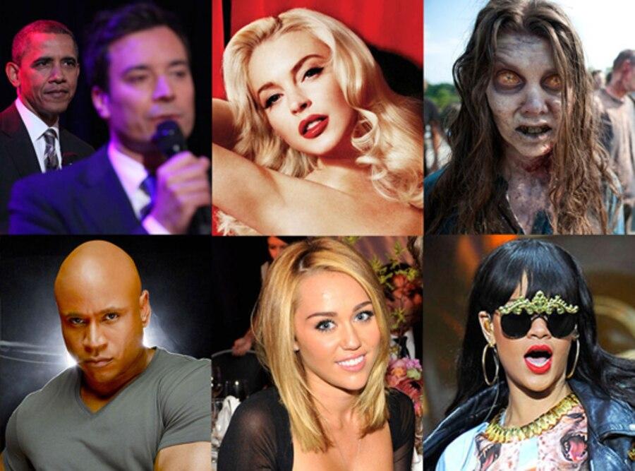LL Cool J, Rihanna, Miley Cyrus, Walking Dead, Lindsay Lohan, Jimmy Fallon, Barack Obama, 100 Best Things
