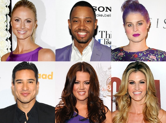 Stacy Keibler, Khloe Kardashian, Kelly Osbourne, Mario Lopez, Terrence J, Erin Andrews