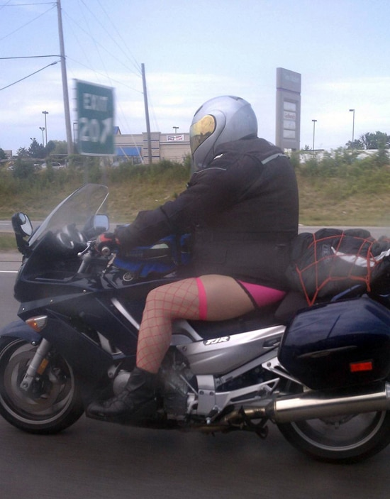 lingerie motorcycle guy soup X2