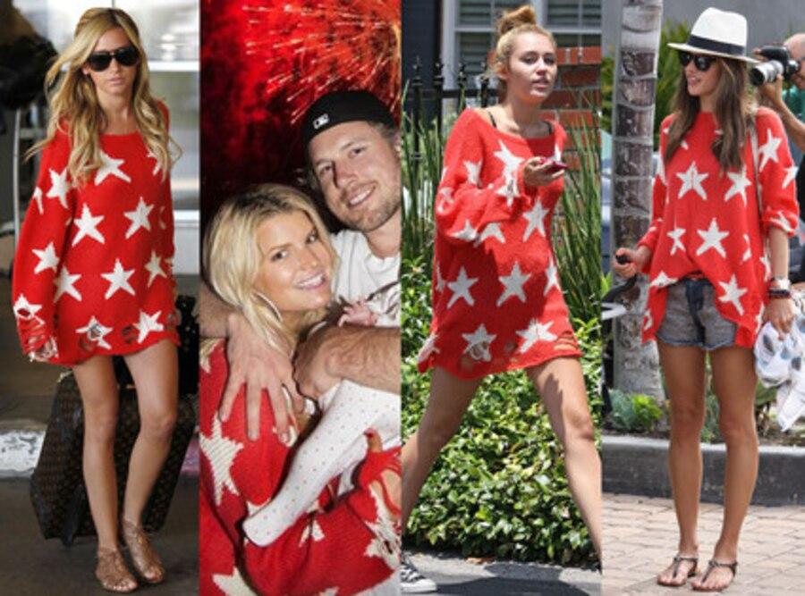 Miley Cyrus, Jessica Simpson, Ashley Tisdale, Alessandra Ambrosio