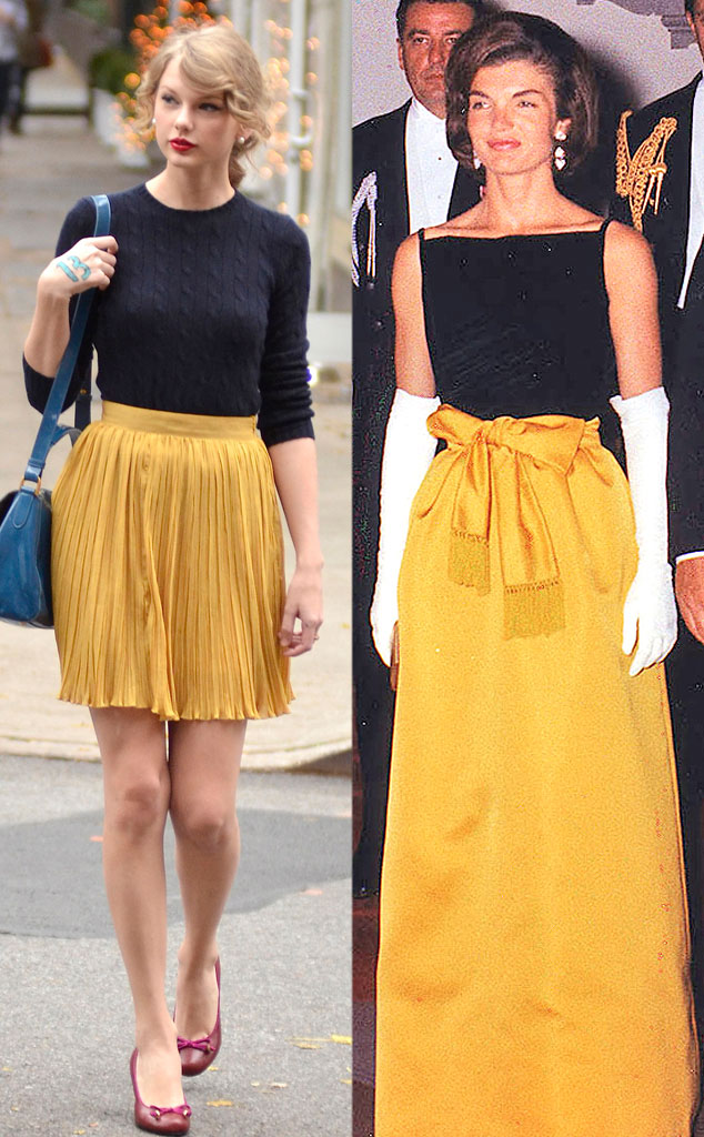 Taylor Swift, Jacqueline Kennedy, Black and Yellow