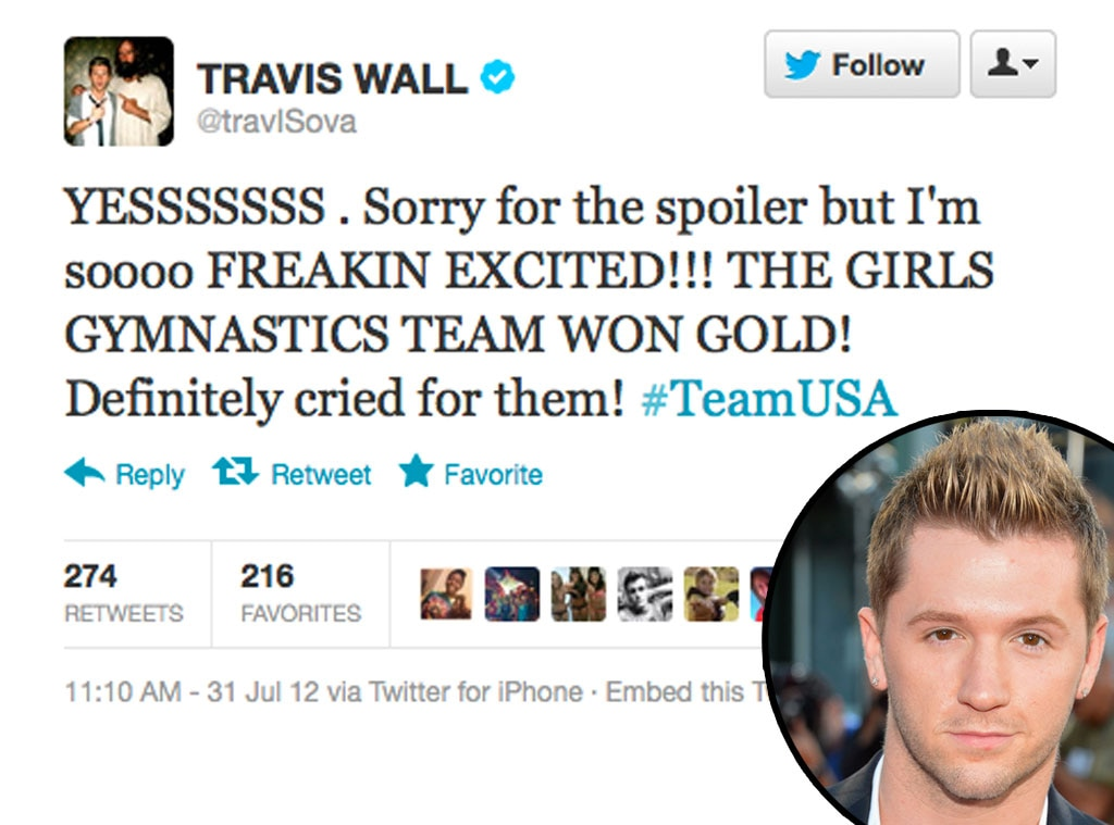 Olympic Tweets, Travis Wall