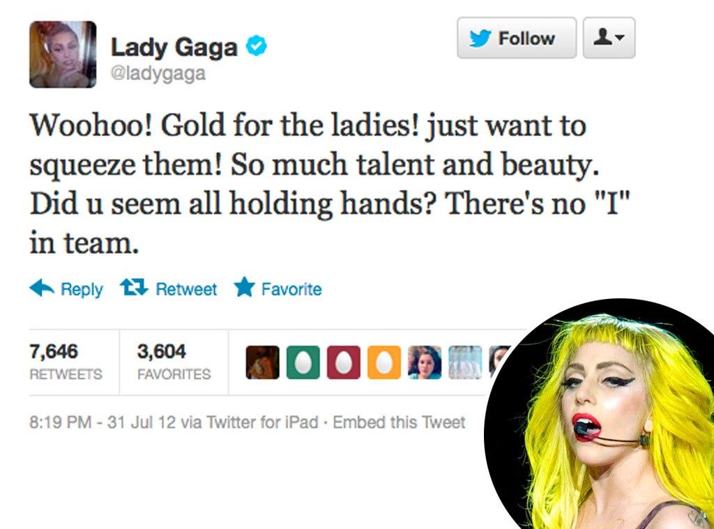 Olympic Tweets, Lady Gaga