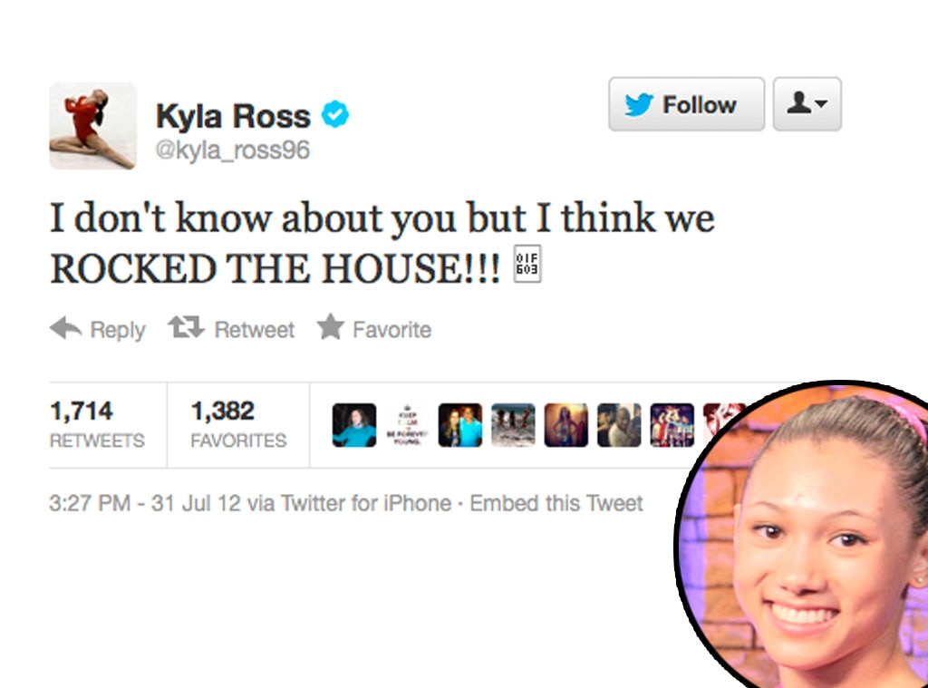 Olympic Tweets, Kyla Ross