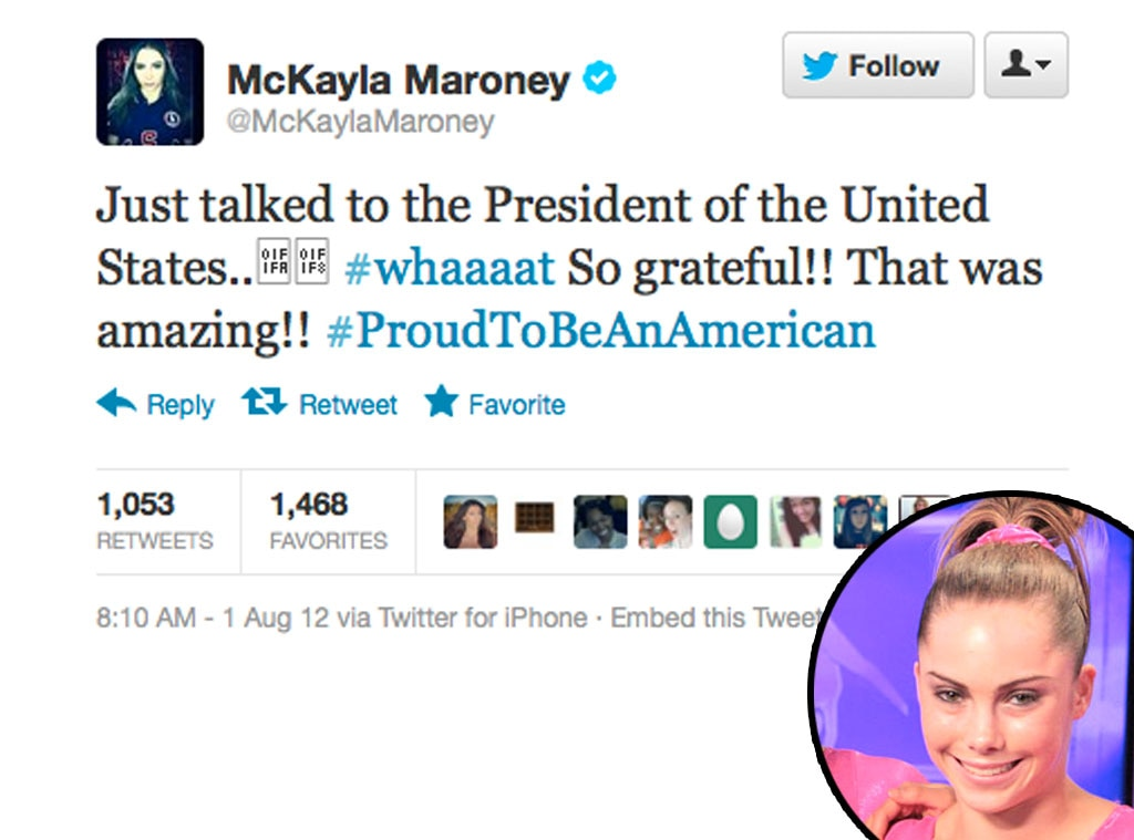 Olympic Tweets, McKayla Maroney