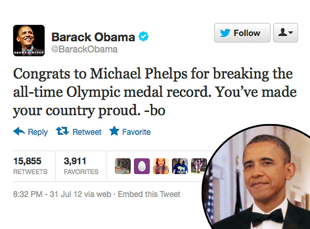 Olympic Tweets, Barack Obama