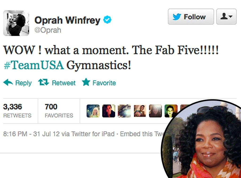 Olympic Tweets, Oprah Winfrey