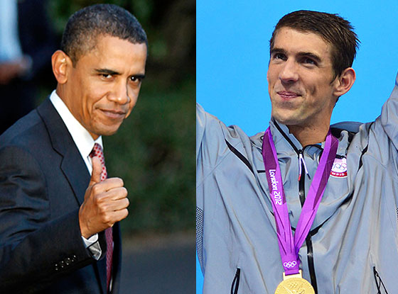 President Obama, Michael Phelps