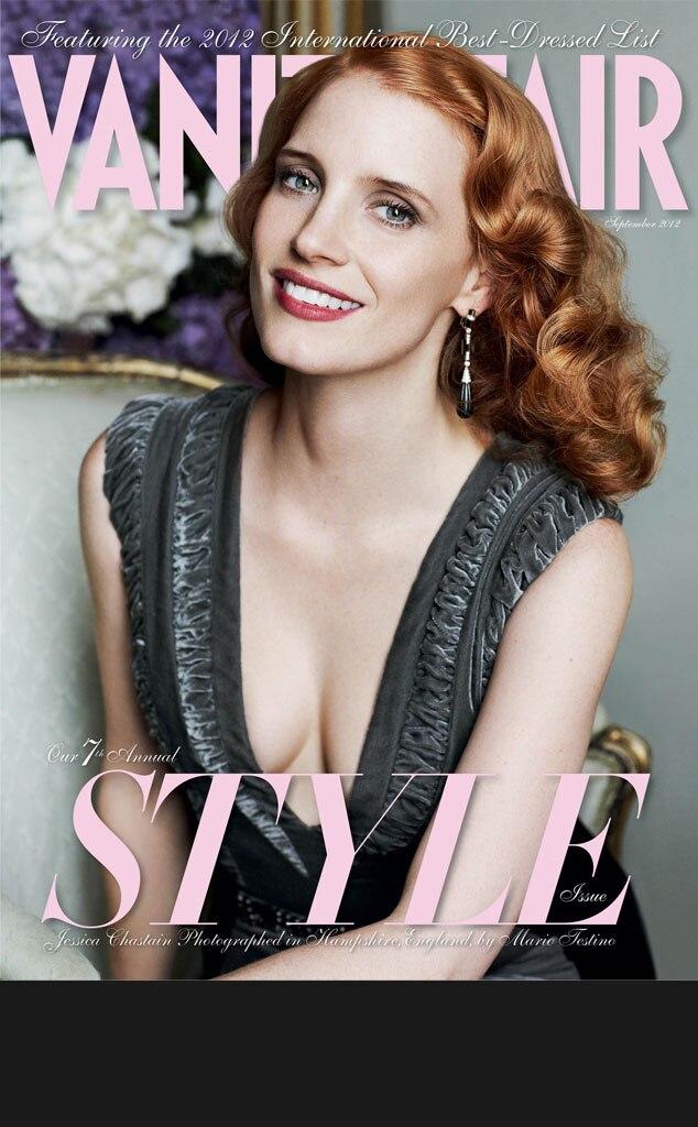 Black Bar for Galleries, do not use in blog, Jessica Chastain, Vanity Fair, September cover